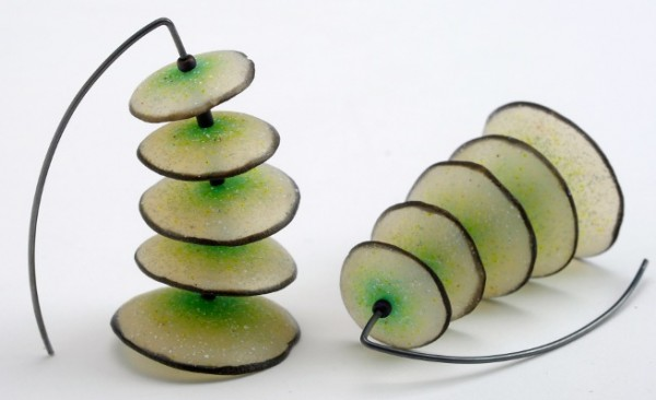 Eucalpytus Earrings - Celadon Frost
