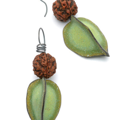 Seed & Pod Earrings - Spring Green
