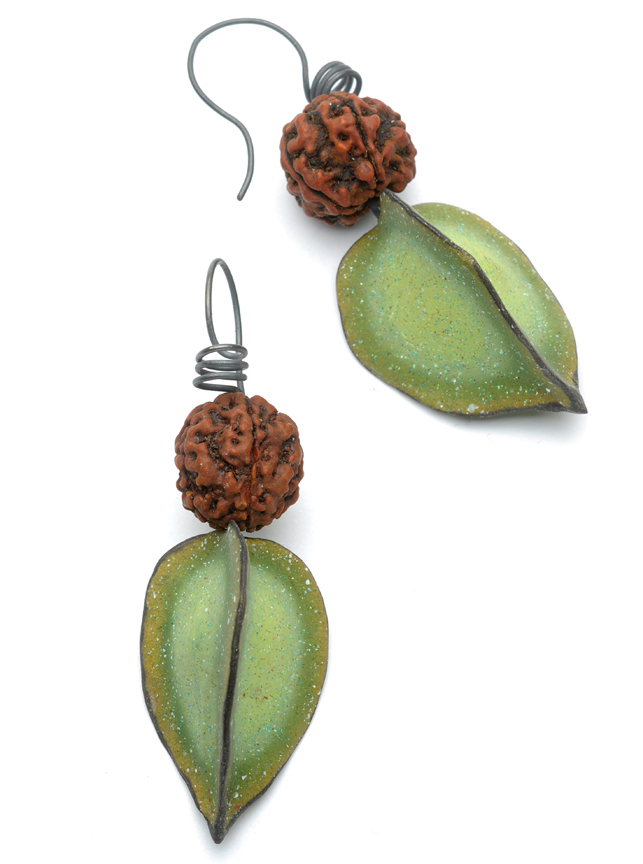 Seed & Pod Earrings - Spring Green