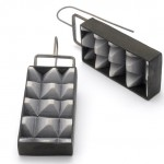 Block Party Earrings - Charcoal Grey